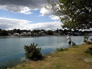 Pêche dans l'anse à La Forêt-Fouesnant