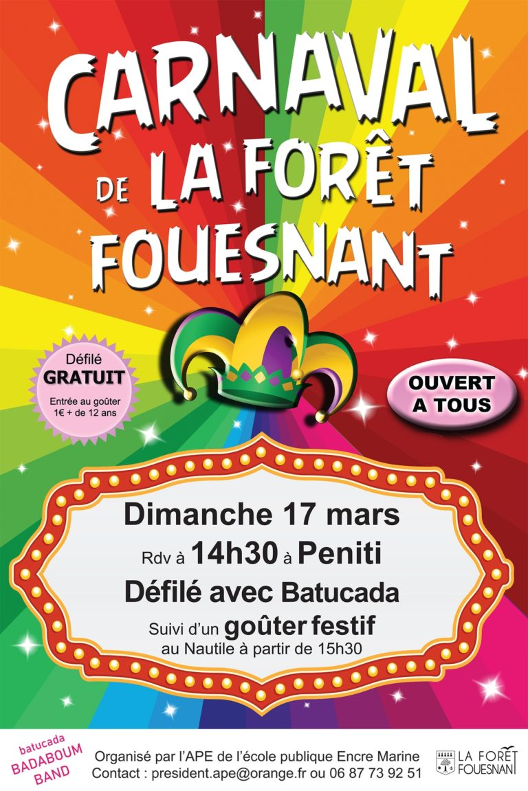 carnaval-la-foret-fouesnant-affiche